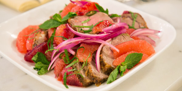 Blood Orange and Red Onion Salad with Lamb