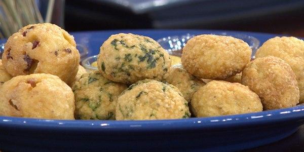 Fried Matzo Ball Dippers