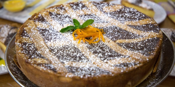 Ricotta Tart with Orange Blossom and Wheat Berries