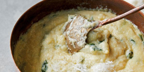 Giada's Creamy Polenta with Spinach