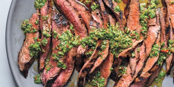 Natalie Morales Easy Grilled Chimichurri Soy Steak