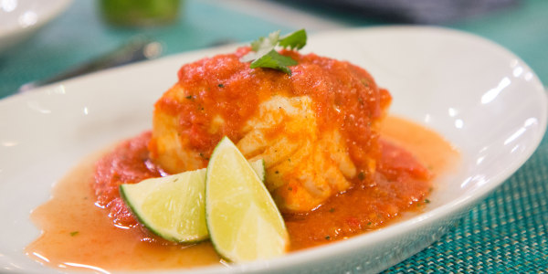 Poached Gazpacho Fish Filets
