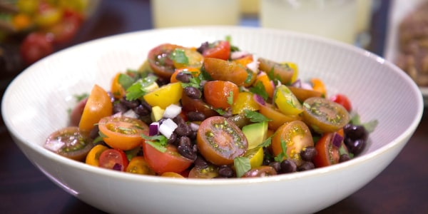 Smollett Siblings' Black Bean, Avocado and Tomato Salad