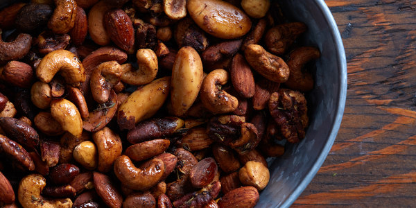 Spicy Beer Nuts with Rosemary