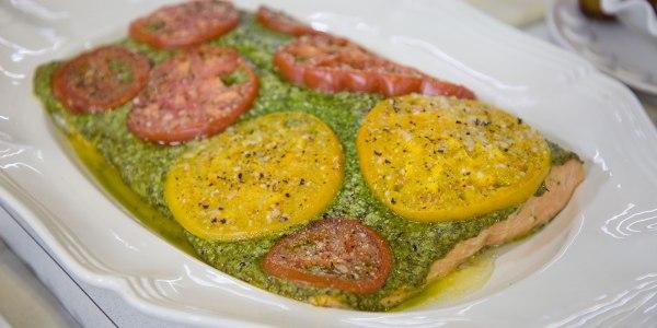 Sami Kotb's Spicy Pesto Salmon