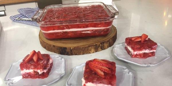 Sheinelle's Grandma's Strawberry Jell-O Salad