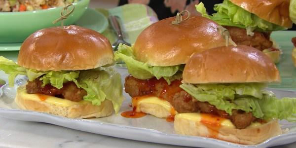 Mini Fried Chicken Burger