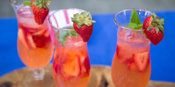 Sunny Anderson's Strawberry Vodka Spritzer