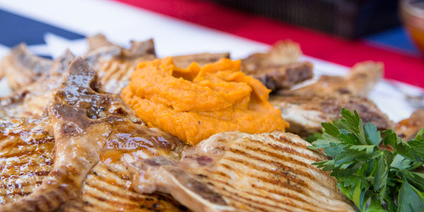 Sunny Anderson's Simple Roasted Sweet Potato Mash