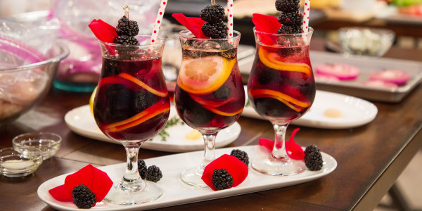 Rose Blackberry Sangria Cocktail