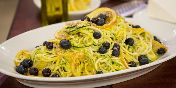 Raw Zucchini Salad with Roasted Lemon