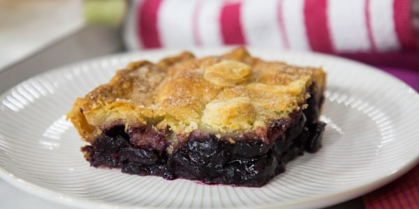 Summer Cherry Lattice Slab Pie