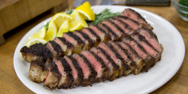 Peppercorn-Crusted New York Strip Steak