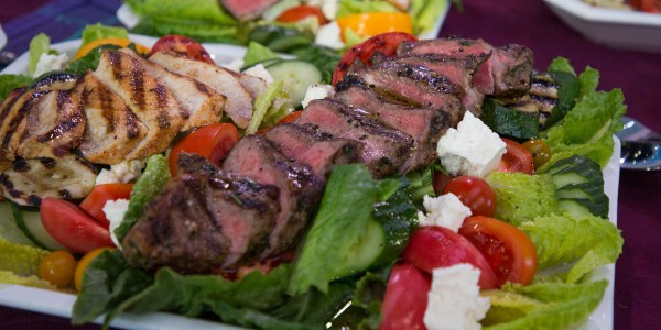 Grilled New York Strip Steaks