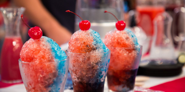 Red, White, and Blue Snow Cones