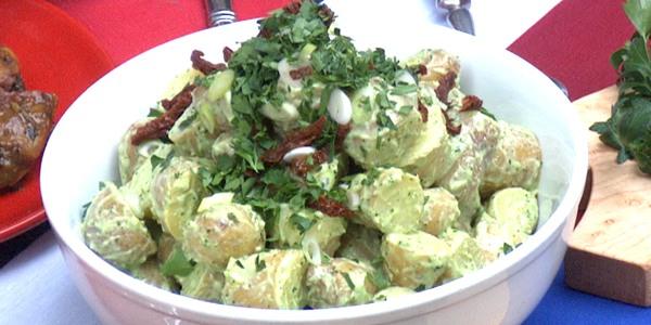 Sunny's Easy Pesto Pasta or Potato Salad