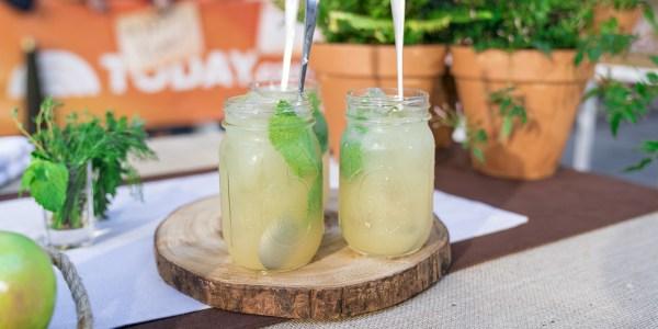 Sparkling Ginger Lemonade Cocktail