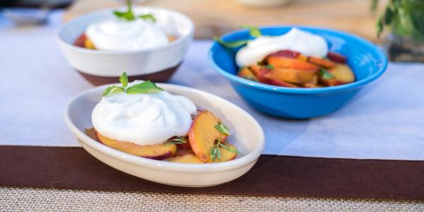 Peach and cream