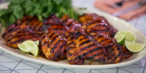 Grilled Chicken Thighs with Adobo Sauce