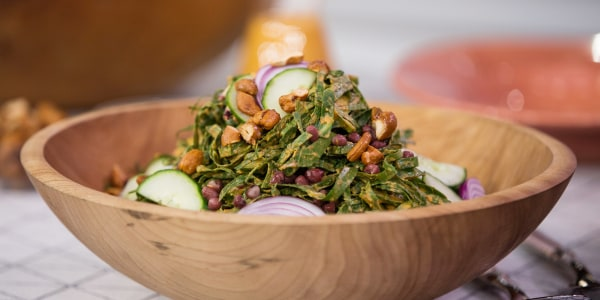 Collard Greens Salad with Coconut Dressing