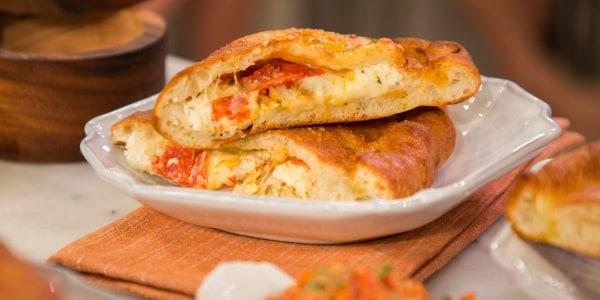 Giada's pepperoni and cheese calzone alla checca