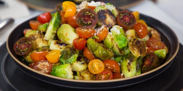 Lemon, Pepper and Parmesan Brussels Sprouts
