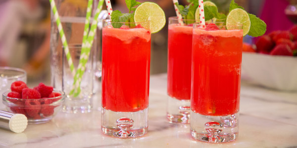 Joy Bauer's Lighter Raspberry Mojito