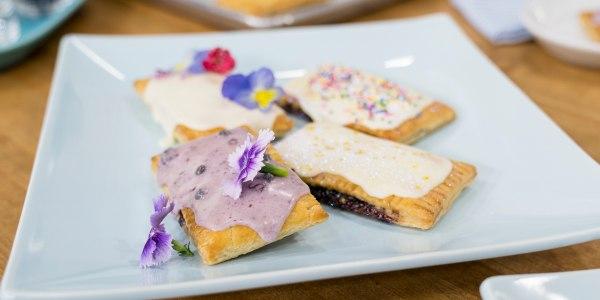 Mini Homemade Blueberry Pastry Tarts