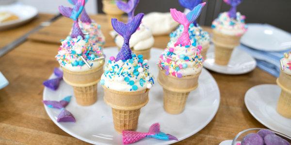 Mermaid Cupcake Cones
