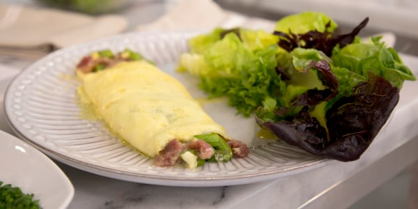 Asparagus, Prosciutto and Parmesan Omelet