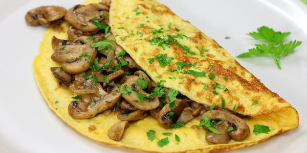 Jamie Oliver's Wild Mushroom Omelet