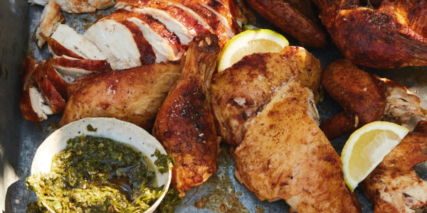 Barbecue Chicken with Salsa Verde