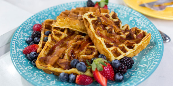 Al Roker's homemade bacon waffles