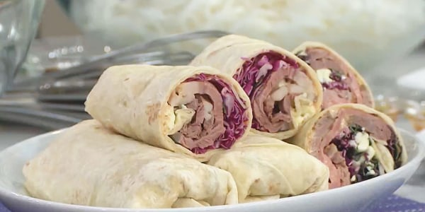 Tortilla Wraps with Chipotle Mayonnaise