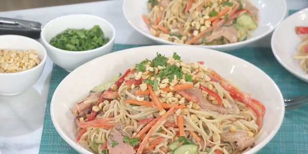 Easy Noodle Salad with Asian Dressing