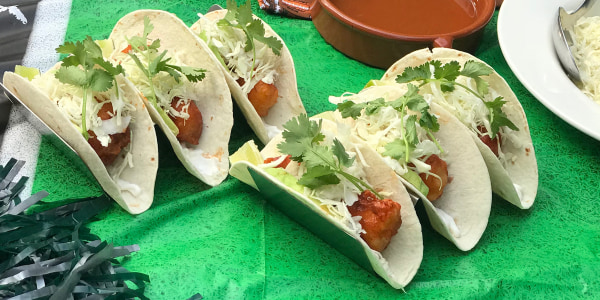 Spicy Fish Tacos with Cole Slaw