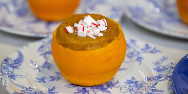 Sweet Potato Soufflé in Orange Cups