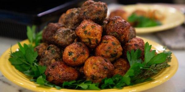 Sebastian Maniscalco's Stuffed Italian Meatballs