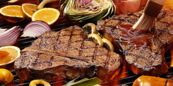 Sunny's T-bone Steak with Bourbon Sauce