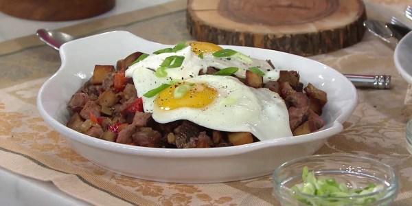 Grilled Flank Steak Breakfast Hash