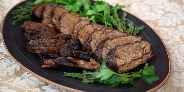 Braised Tri-tip with Honey-Roasted Carrots and Parsnips