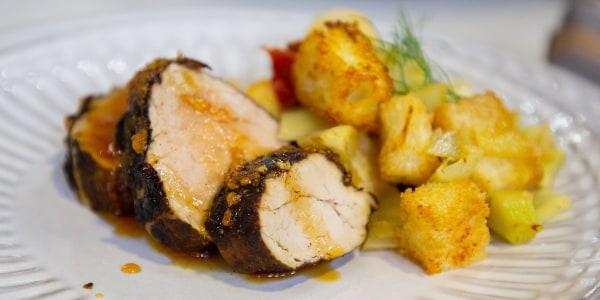 Spicy Pork Tenderloin with Fennel Stuffing