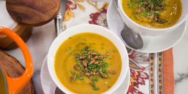 Candied Butternut Squash Soup Recipe