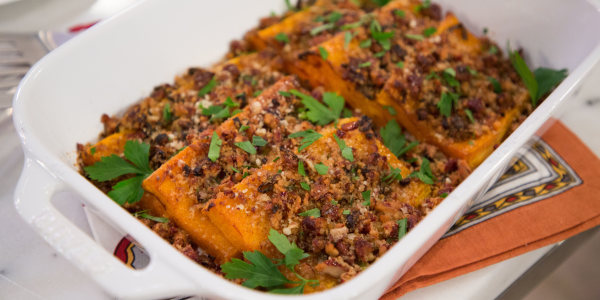 Daphne Oz's Roasted Butternut Squash Parmesan with Pecans