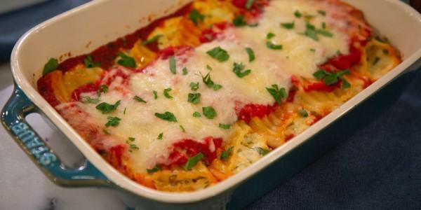 Very Veggie Cheesy Manicotti