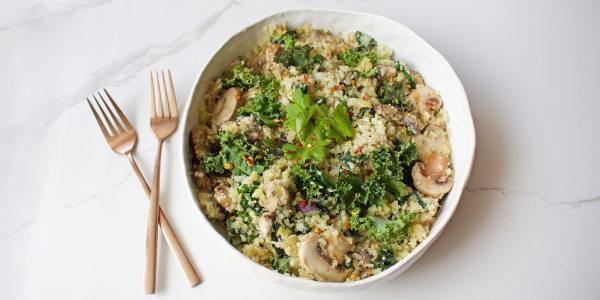 Kale and Cauliflower Fried Rice