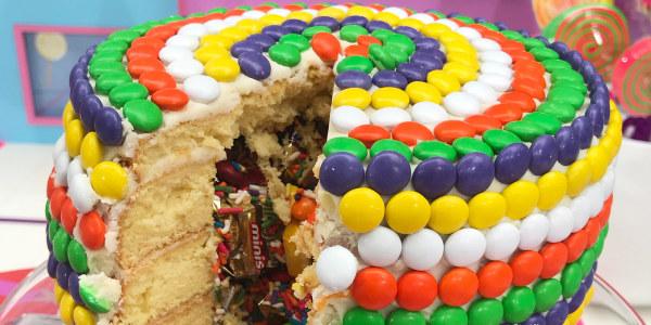 Candy Piñata Cake