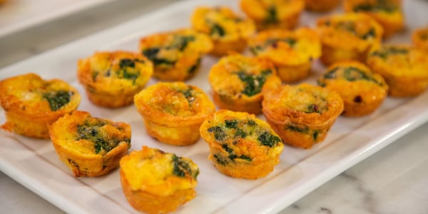 Chicken and Spinach Breakfast Bites