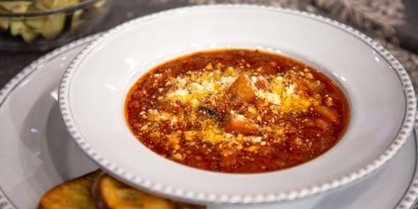 Ina Garten's Tomato and Eggplant Soup