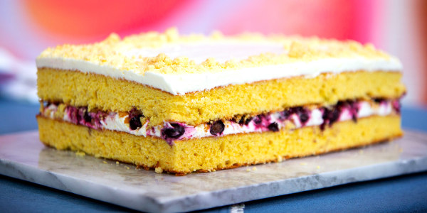 Christina Tosi's Corn and Blueberry Sheet Cake
